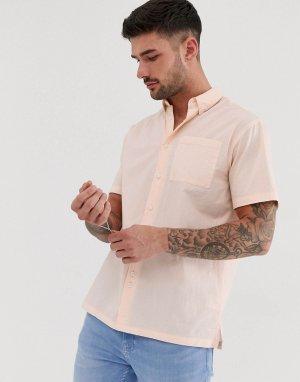 Поплиновая рубашка с короткими рукавами -Розовый Bellfield