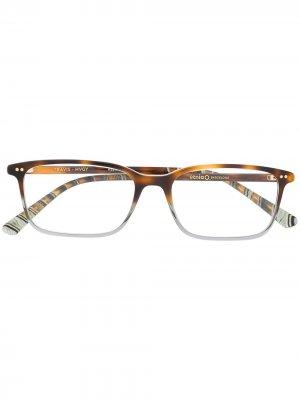 Очки Travis черепаховой расцветки Etnia Barcelona. Цвет: коричневый