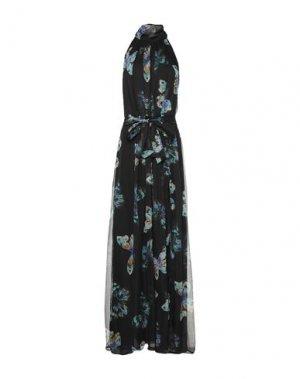 Длинное платье ATOS LOMBARDINI. Цвет: черный
