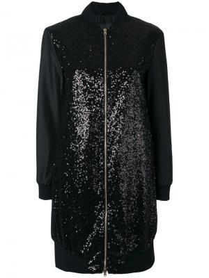 Куртка-бомбер декорированная пайетками Herno. Цвет: чёрный