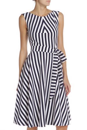 Платье IQDRESS. Цвет: темно синия-белая полоса