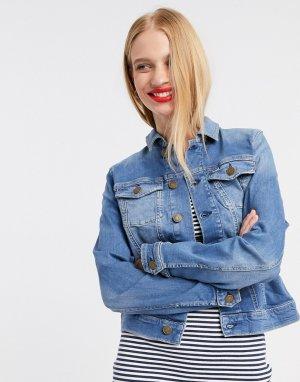 Синяя приталенная джинсовая куртка Tommy Jean-Синий Jeans