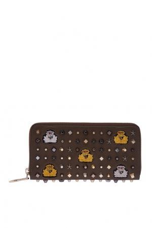 Кожаный кошелек W Panettone Christian Louboutin. Цвет: multicolor