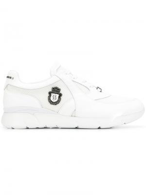 Кроссовки с логотипом Billionaire. Цвет: белый