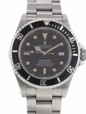 Наручные часы Sea-Dweller pre-owned 40 мм 1998-го года Rolex. Цвет: черный