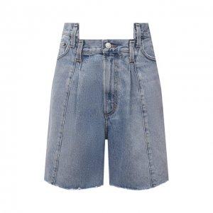 Джинсовые шорты Agolde. Цвет: голубой