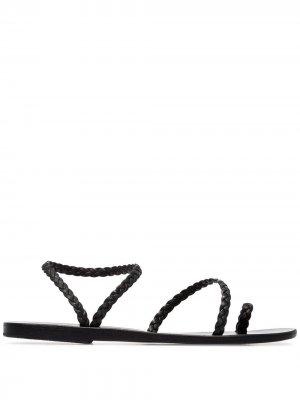 Сандалии Elefteria с плетеными ремешками Ancient Greek Sandals. Цвет: черный