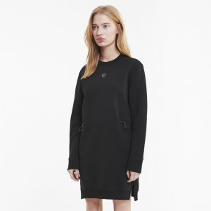 Платье Ferrari Style Sweat Dress PUMA. Цвет: черный