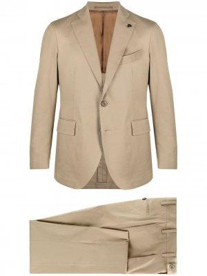 Костюм с однобортным пиджаком Gabriele Pasini. Цвет: нейтральные цвета