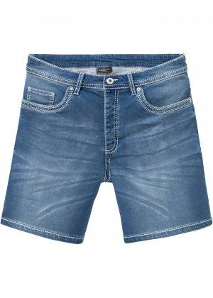 Шорты джинсовые Slim Fit bonprix. Цвет: синий