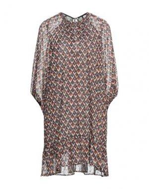 Короткое платье ATTIC AND BARN. Цвет: темно-коричневый