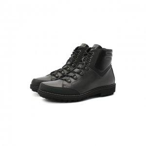 Кожаные ботинки Zilli. Цвет: чёрный