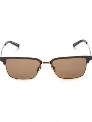 Солнцезащитные очки в квадратной оправе Dita Eyewear. Цвет: черный
