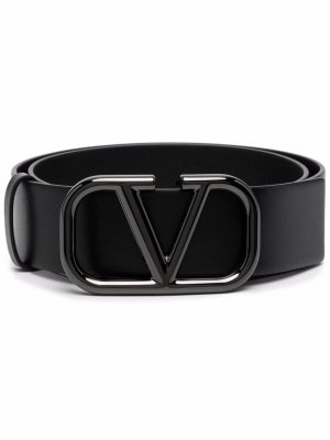 Ремень с пряжкой-логотипом Valentino Garavani. Цвет: черный