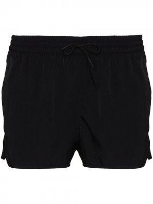 Плавки-шорты из ткани ECONYL® CDLP. Цвет: черный
