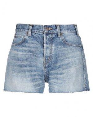 Джинсовые шорты CELINE. Цвет: синий