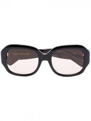 Солнцезащитные очки Mauretania в круглой оправе Port Tanger. Цвет: черный