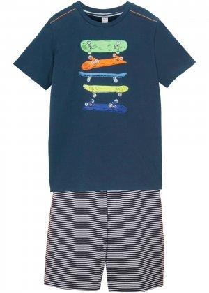 Футболка и брюки (2 изд.) bonprix. Цвет: синий