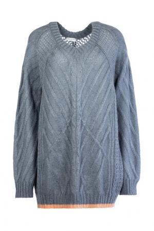 Серый пуловер из мохера Vionnet