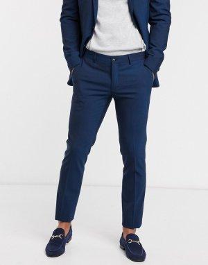 Темно-синие узкие брюки -Темно-синий Esprit