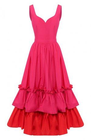 Платье-миди Alexander McQueen. Цвет: розовый