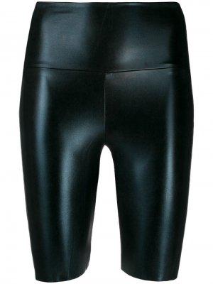 Облегающие шорты с лампасами Norma Kamali. Цвет: черный