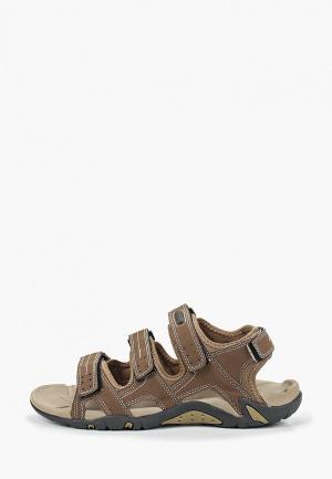 Сандалии Escan. Цвет: коричневый
