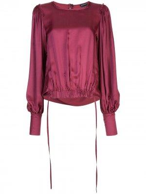 Блузка с эластичным подолом Ann Demeulemeester. Цвет: фиолетовый