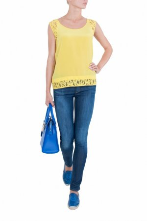 Синие зауженные джинсы Armani Jeans. Цвет: синий