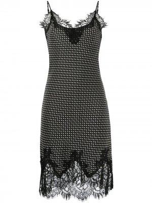 Платье-комбинация с принтом Gold Hawk. Цвет: черный