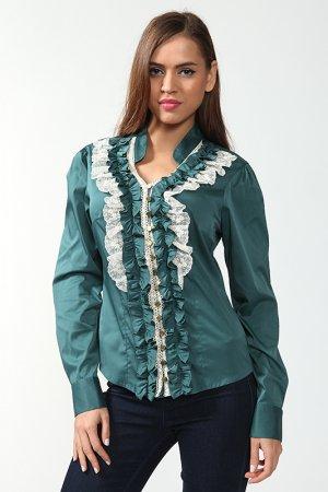Блузка Cliche. Цвет: зеленый