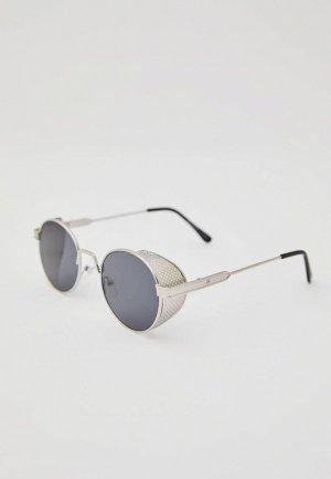 Очки солнцезащитные Pull&Bear. Цвет: серый