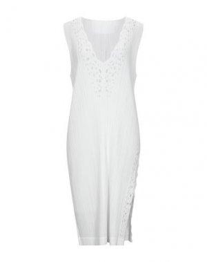 Платье до колена PLEATS PLEASE ISSEY MIYAKE. Цвет: белый