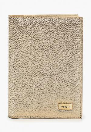 Обложка для паспорта Fabretti. Цвет: золотой