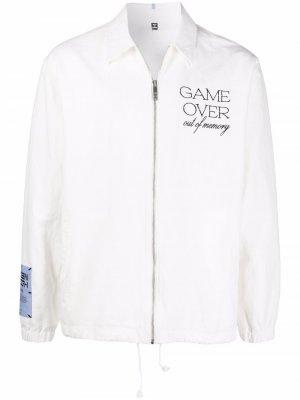 Куртка-рубашка с вышивкой MCQ. Цвет: белый