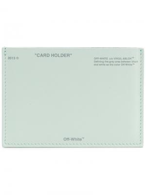 Logo card holder Off-White. Цвет: зелёный