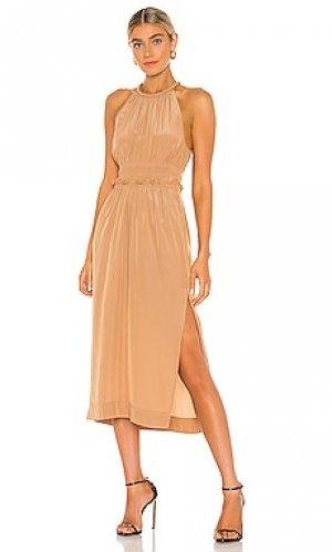 Платье миди klara A.L.C.. Цвет: цвет загара