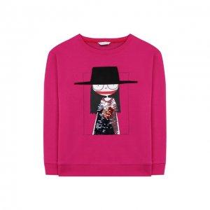 Хлопковый свитшот MARC JACOBS (THE). Цвет: розовый