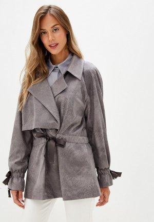 Куртка Adzhedo. Цвет: серый