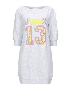 Короткое платье EAN 13. Цвет: светло-серый