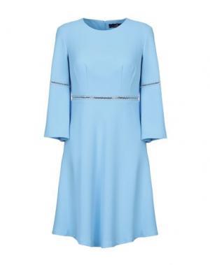 Короткое платье COMPAGNIA ITALIANA. Цвет: небесно-голубой