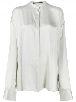 Рубашка с потайной застежкой Haider Ackermann. Цвет: зеленый