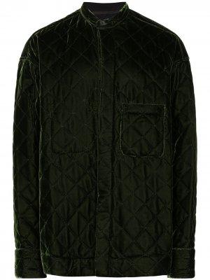 Стеганая бархатная куртка Haider Ackermann. Цвет: зеленый
