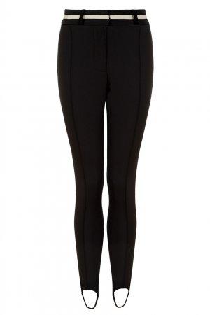 Черные брюки со штрипками LAROOM. Цвет: черный