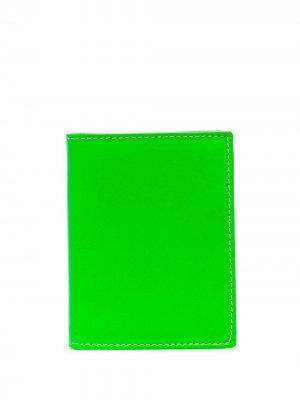 Super Fluo leather cardholder Comme Des Garçons Wallet. Цвет: зеленый