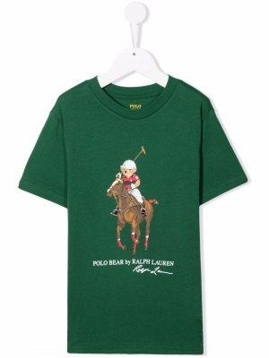 Polo Bear print T-shirt Ralph Lauren Kids. Цвет: зеленый