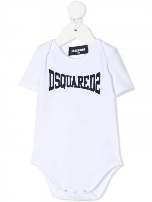 Боди с логотипом Dsquared2 Kids. Цвет: белый