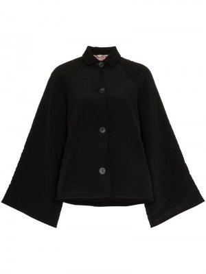 Куртка Marion с цветочной вышивкой By Walid. Цвет: черный