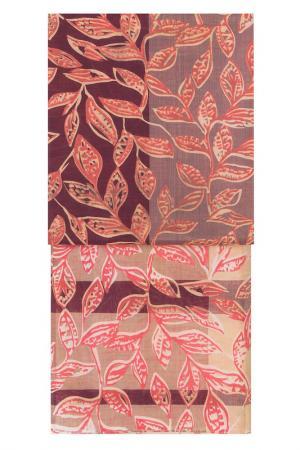 Палантин Michel Katana. Цвет: бежевый, какао, коралловый