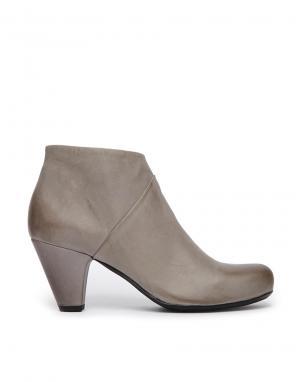 Серые кожаные ботинки на каблуке Gardenia. Цвет: himalaya grey
